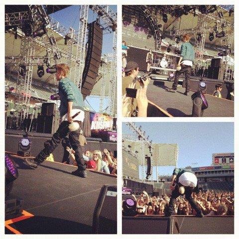Justin y Carly en Wango Tango 2012