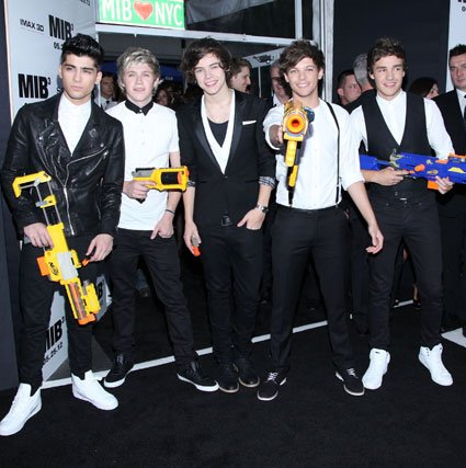One Direction en la première de Men In Black 3 (MIB3)