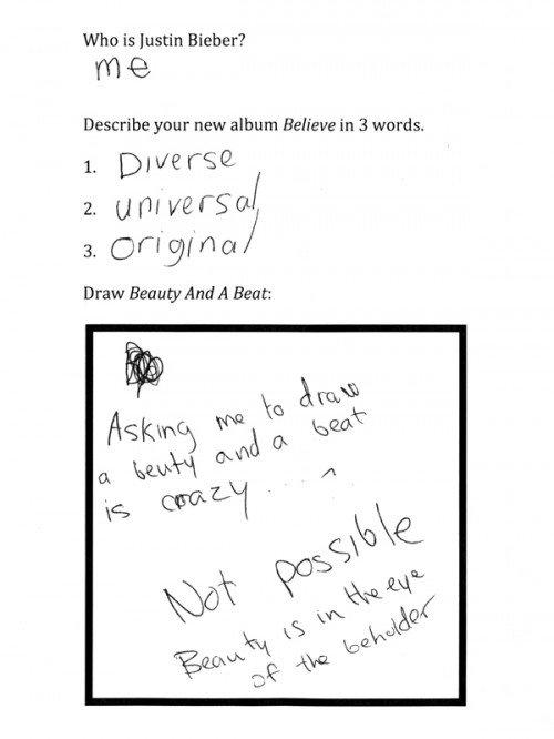 Quiz de Justin Bieber