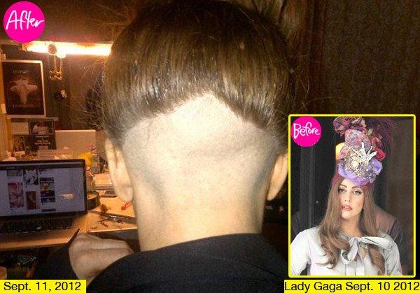 Lady Gaga se ha rapado parte de su cabeza