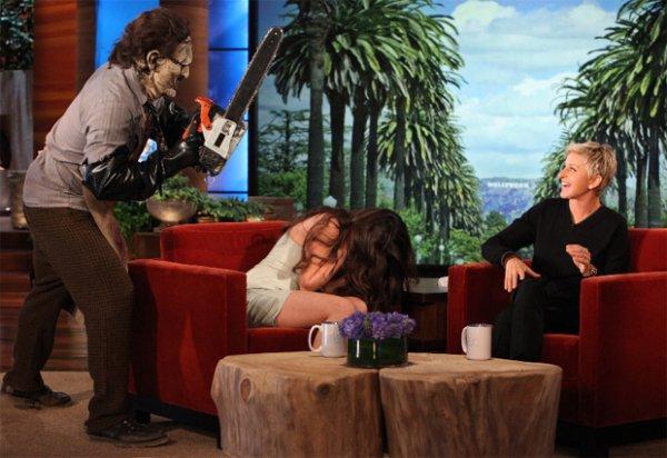Selena Gomez asustada
