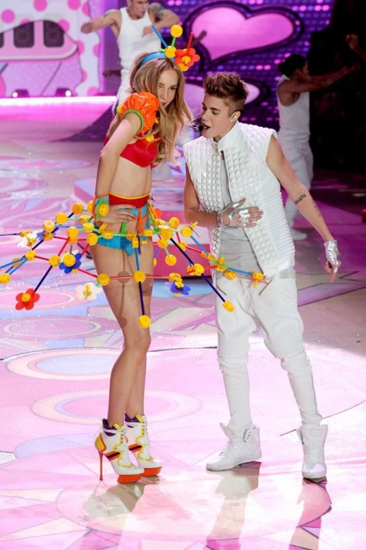 Justin Bieber en el show de Victoria's Secret