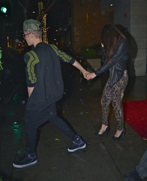 Justin y Selena cena romantica