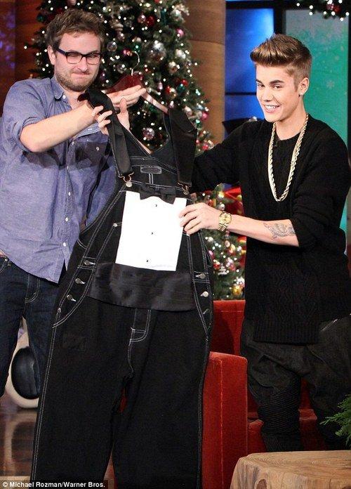 Justin Bieber en Ellen Show
