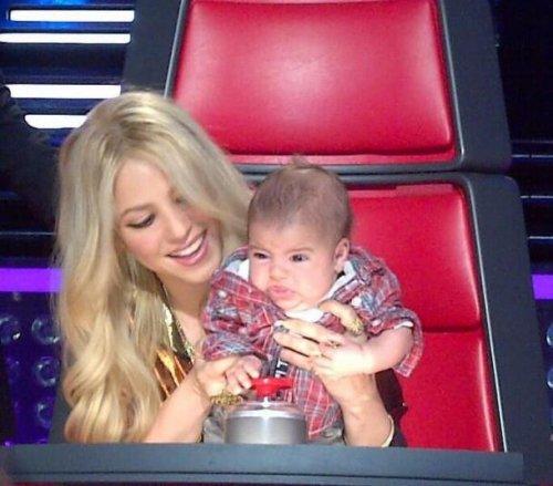 Shakira y su hijo Milan en La Voz (USA)