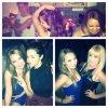 Selena de fiesta con sus amigas