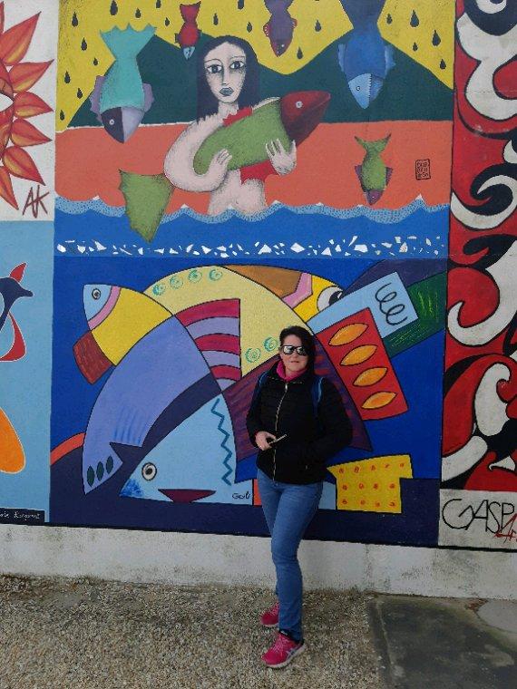 Sandra au phare de la Coubre