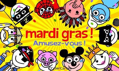 MARDI GRAS  Fêté à travers le monde, le carnaval est un événement incontournable que beaucoup ne manqueraient pour rien au monde.  Que l'on soit petit ou grand, la magie du carnaval opère toujours, déguisement, maquillage, musique en sont quelques ingrédients.