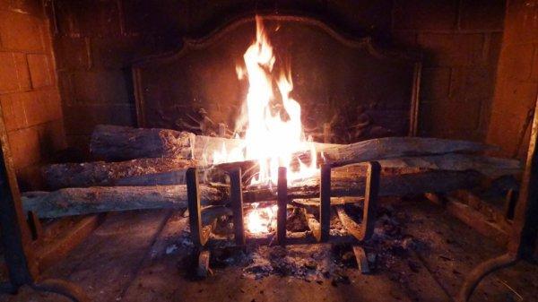 petit feu de cheminée