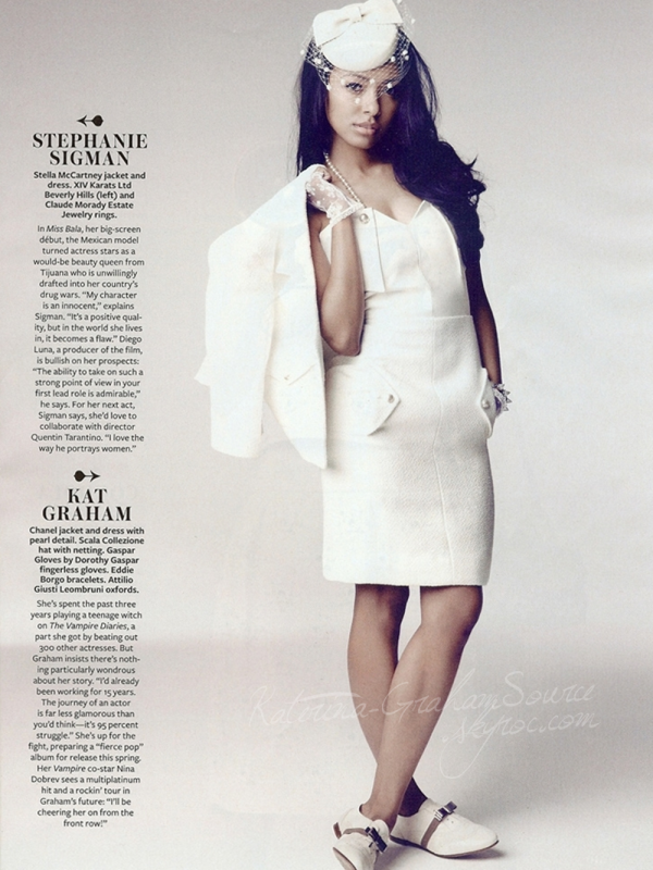 Scan  Katerina dans le Magazine Instyle