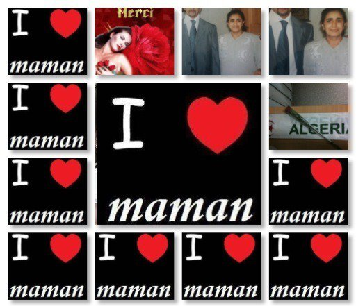 je t'aime maman Allah yerahmek