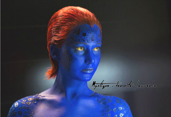 Jennifer Lawrence interprétant le rôle de Mystique dans X-Men: Days of Future Past