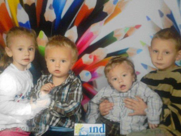 mes 4 enfants que j'aime
