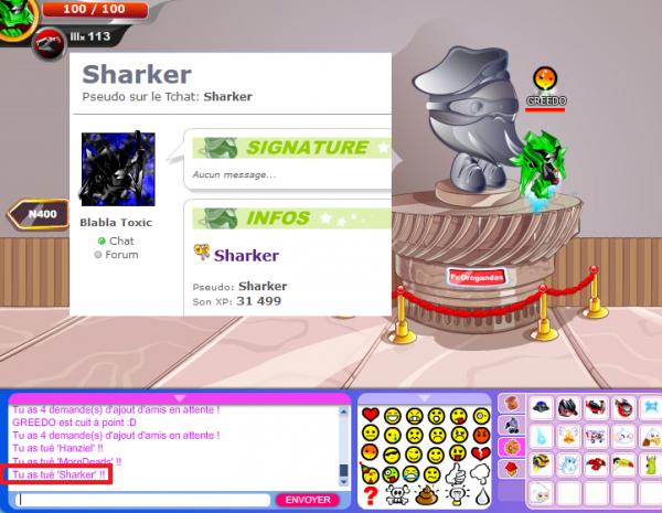 Donc voilà Sharker enfin je le rencontre en fury malgrès qu'il fait que tricher.