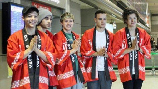 One Direction : Les premières photos de leur voyage au Japon dévoilées !