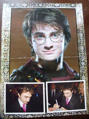 L'autographe dont je suis le plus fière : Daniel Radcliffe