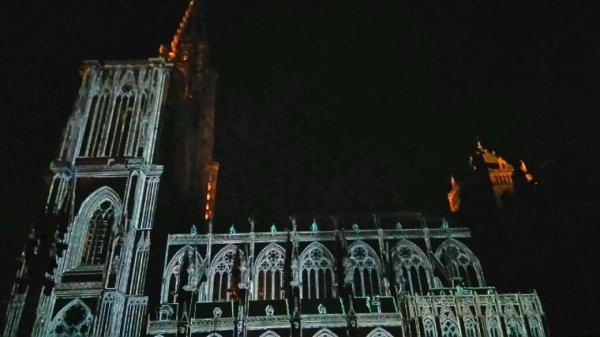Strasbourg.. La cathédrale hier soir...