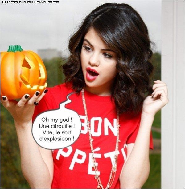 Selena Gomez a un secret... elle a la phobie des citrouilles ! (too bad pour une sorcière ^^)