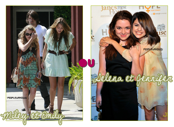 Miley Cyrus VS Selena Gomez - Plutôt... ?