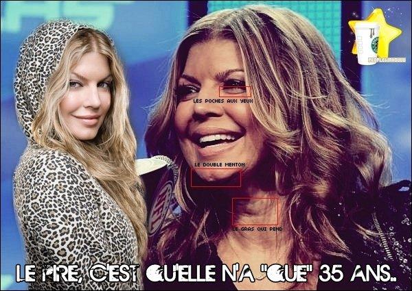 Fergie, ou celle qui, sans retouches, prend 20 ans dans la face !