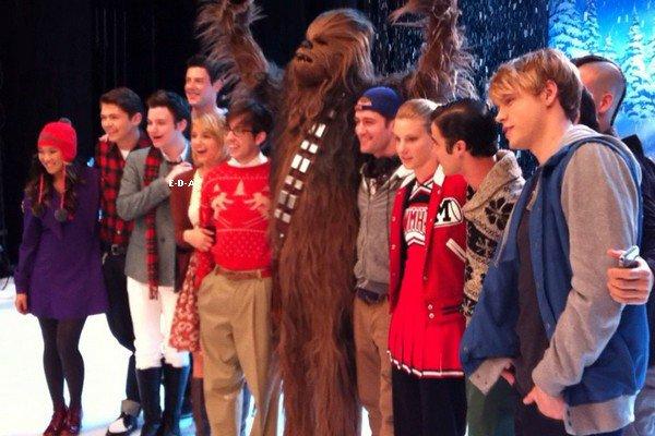 Quelques photos de Dianna et du cast de Glee sur le tournage + La photo coup de coeur de la semaine ! Donne ton avis !