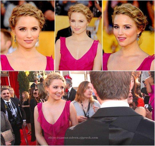 Dianna aux 18e Annuels Sreen Actor Guilds Awards 2012. Elle était magnifique, j'aime beaucoup sa coiffure et son make-up, mais je n'aime pas trop la robe... Top ou Flop ?