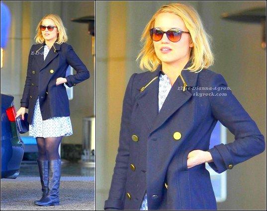 11 Février 2012 : Dianna était devant le Sunset Hotel dans Hollywood. Personnellement j'aime beaucoup son manteau, ses lunettes, sa robe et ses bottes aussi, tout quoi, un Top pour moi! Top ou Flop ?