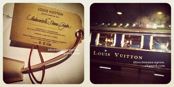07 Mars 2012 :  Dianna est à Paris! Ce matin elle s'est rendue au défilé Louis Vuitton. Elle est arrivée dans notre capitale hier après-midi et on ne sait pas quand elle repartira, espérons qu'elle reste longtemps! Top ou Flop ?