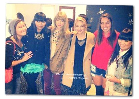 Dianna est allé voir Hunger Games avec Taylor Swift, elles ont posées avec des fans. On les dit en froid car Tim Tebow, un quaterback américain qui aurait flirté avec Taylor, et avoué aimer Dianna, histoire à éclaircir, mais apparemment elles s'entendent très bien!