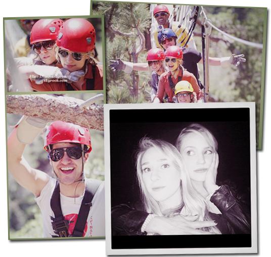 Deux nouvelles photos de Dianna faisant de l'accrobranche sont sorties! +Une photo de Di et Ashley Avignone!
