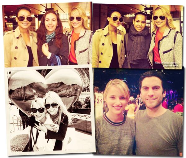 Dianna est à Paris, elle y a posé avec des fans en compagnie de Naya! Deux nouvelles photos de Di en compagnie de Ashley Avignone et Wes Bentley (Hunger Games) sont apparues.