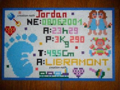 cadre naissance de Jordan