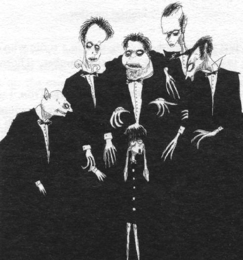 Des esquisses de Tim Burton, pour le plaisir