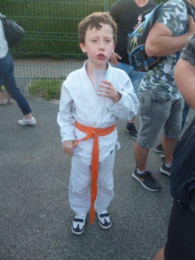 Une ceinture orange se fête !
