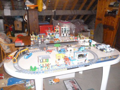 La ville LEGO de mon grand fiston !