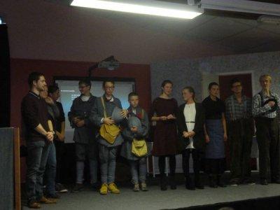 Spectacle de la classe de 3ème du collège pour les commémorations 14/18 à SEMIDE