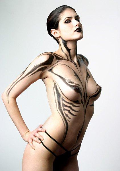 Séance de body painting