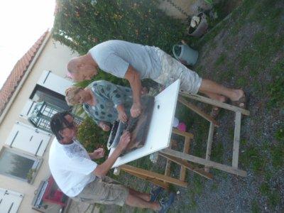 Mouclade chez Marinette et Pascal, nos propriétaires du gîte, pour notre dernière soirée :(