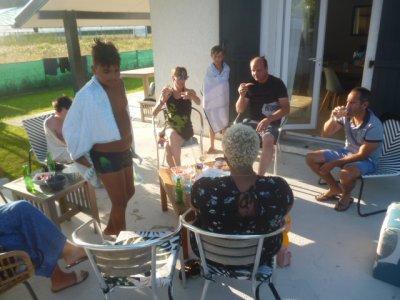 Apéritif dînatoire à Tarnos avec les cousins de BAYONNE