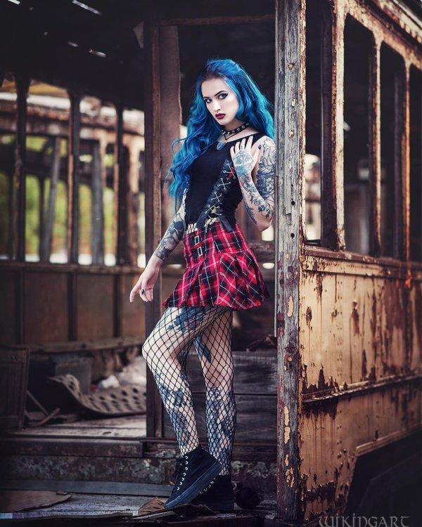 Goths bleutées