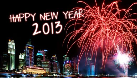 ☆ * ☆ * ☆ *HAPPY NEW YEAR !!!! ..Meilleurs v½ux ♥ ... Bonne Santé et j'espère que l'année (2013) sera L'année de la Générosité et de là Tolérance et de L'Amour. Gros bisous ♥