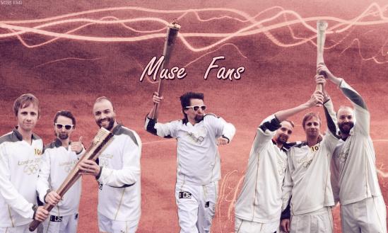 Muse ♥  porte la flamme olympique