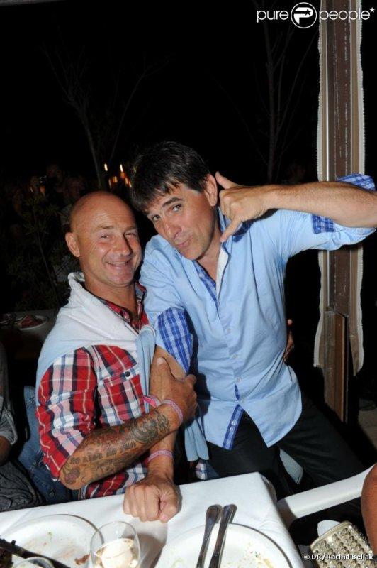 En compagnie de TEX lors d'un soirée à Saint-Tropez