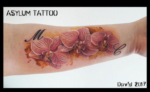 Tattoo Orchidée