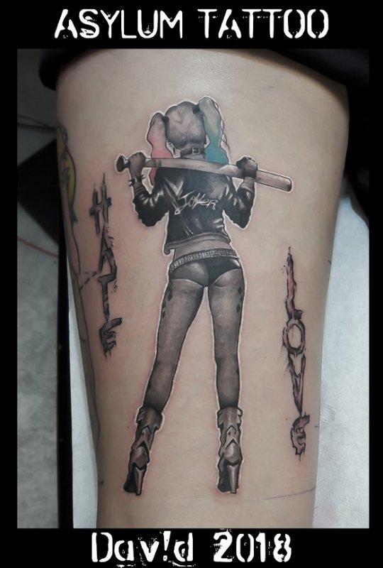 Harley Quinn Tattoo   ASYLUM TATTOO 86