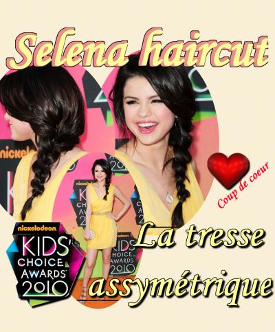Hey everyone! Je vous présente mon premier tutoriel sur le style capillaire de Selena. J'ai choisis la coiffure qu'elle portait aux Kids Choice Awards 2010 une coiffure qui est d'actualité pour cet été, c'est un énorme Coup de c½ur, Cette coupe met son visage en valeur et son maquillage est, comme d'habitude parfait. Selena était RESPLENDISSANTE ce jour la.