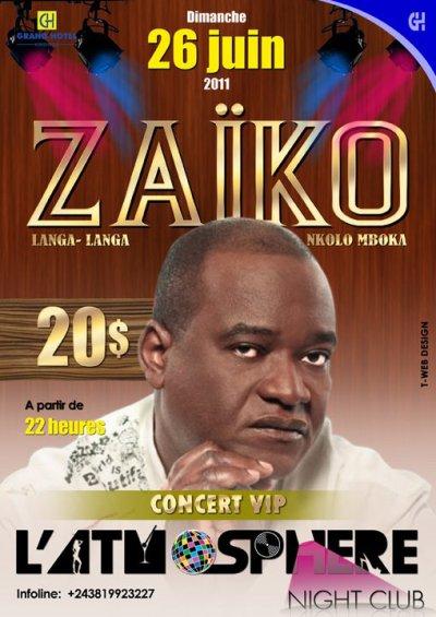 Zaiko ce 26 juin 2011 à l'Atmosphère de Kinshasa!