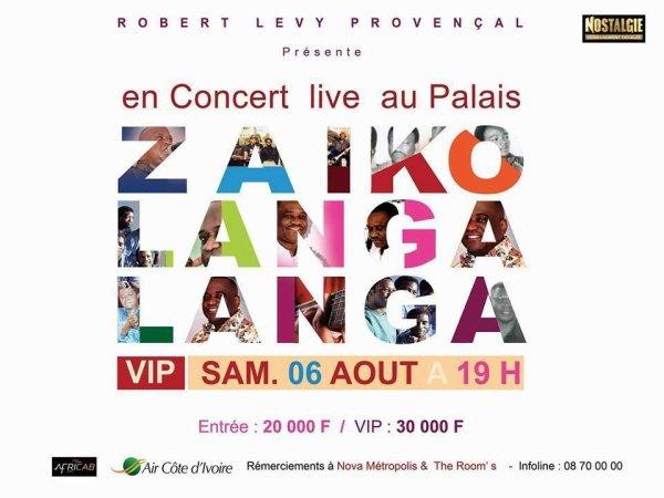 Zaiko langa Langa à Abidjan le 6 août 2016