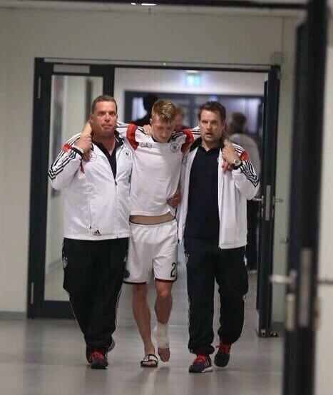 Marco Reus (Allemagne) se blesse lors du dernier match de préparation et loupera le Mondial