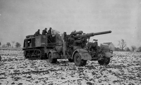 5 janvier 1945 un canon de 88 capturé